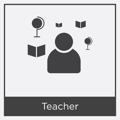 Teacher icon isolated on white background