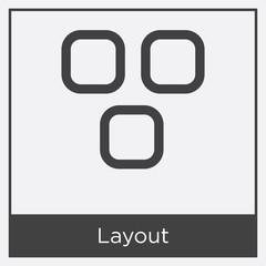 Layout icon isolated on white background