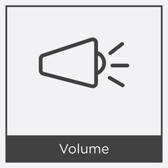 Volume icon isolated on white background
