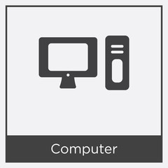 Computer icon isolated on white background