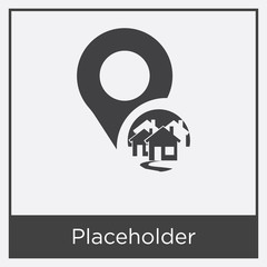 Placeholder icon isolated on white background