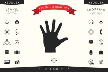 Helping hand silhouette- icon