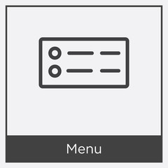Menu icon isolated on white background
