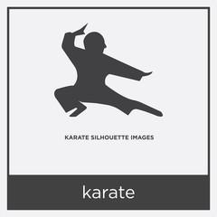 karate icon isolated on white background