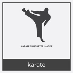 karate icon isolated on white background