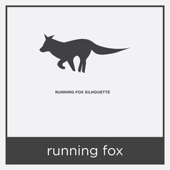 running fox icon isolated on white background