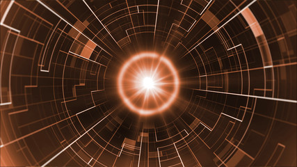 Abstract future technology concept, cyber hi-tech background. Science futuristic design