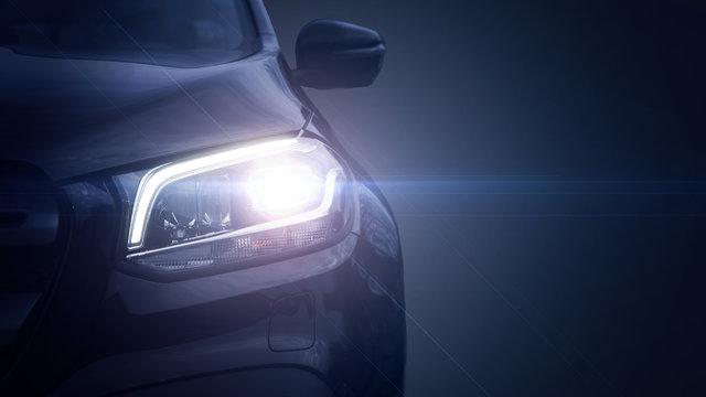Scheinwerfer vom Fahrzeug