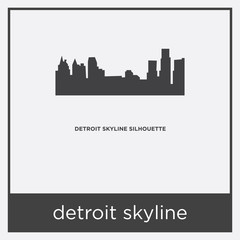 detroit skyline icon isolated on white background