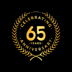 65 years design template. 65th vector and illustration.