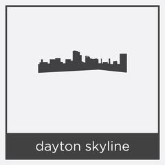 dayton skyline icon isolated on white background