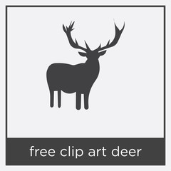 free clip art deer icon isolated on white background