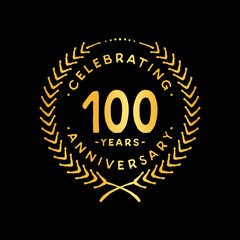 100 years design template. 100th vector and illustration.