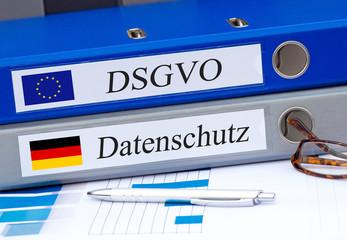 DSGVO Datenschutz Datenschutzgrundverordnung Datenschutz-Grundverordnung Ordner im Büro