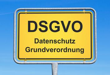 DSGVO Datenschutz Grundverordnung Datenschutzgrundverordnung Schild