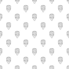 Glaze ice cream pattern vector seamless repeating for any web design
