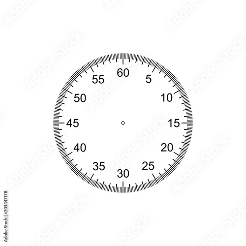 Measuring circle scale  Stopwatch dial  Measuring round scale, Level