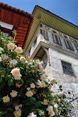 Cakiraga Mansion and roses tree in Birgi, Izmir, Turkey