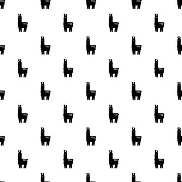Llama pattern vector seamless repeating for any web design