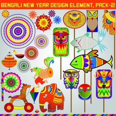 Bangali New Year Design element pack 2, this elements can be use to make Banner, poster, or online content faster.