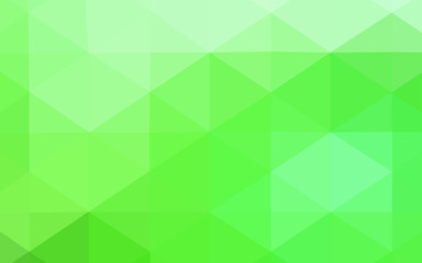 Light Green vector abstract mosaic background.
