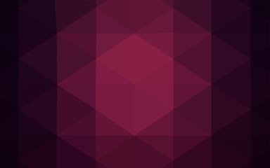 Dark Purple vector polygonal pattern.