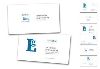 6 Business Card Layouts