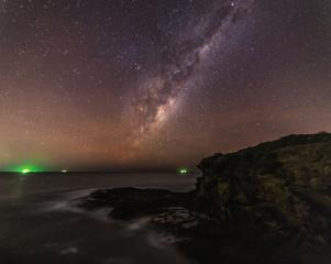 The Milky Way over the ocean