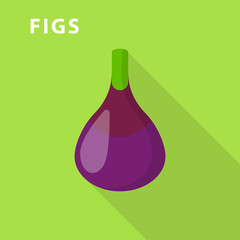 Figs icon. Flat illustration of figs vector icon for web design