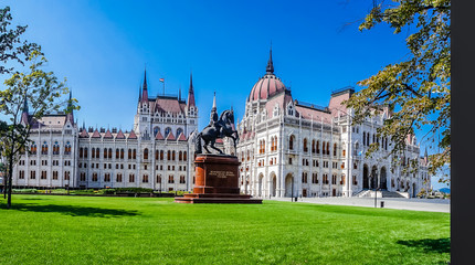 View on historical parliament in Budapest - Hungary