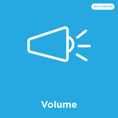 Volume icon isolated on blue background