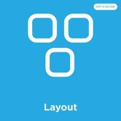Layout icon isolated on blue background
