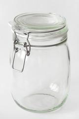 Glass jar with lid