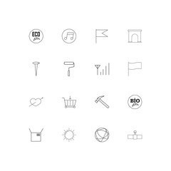 Industry linear thin icons set. Outlined simple vector icons