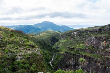 canyon, montanha, trekking, caminhada, natureza, paisagem, nuvens, brasil, serra dos alves, canyon boca da serra, serra do espinhaço, serra do cipó