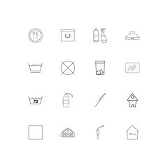 Home Appliances linear thin icons set. Outlined simple vector icons