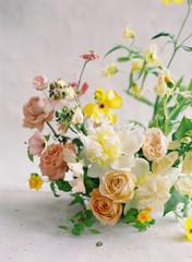 Spring Floral Arrangements, Spring Wedding Flowers, Silk Ribbon