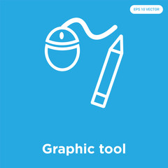 Graphic tool icon isolated on blue background