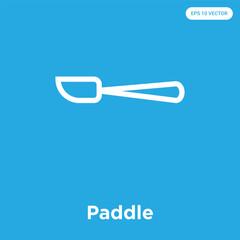 Paddle icon isolated on blue background