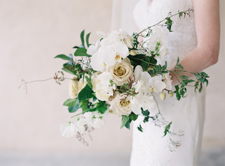 Natural Bride and Bouquet