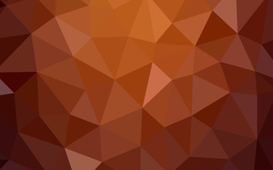Light Red vector gradient triangles pattern.