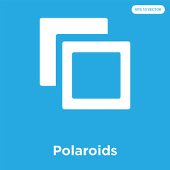 Polaroids icon isolated on blue background