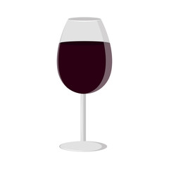 Isolated wine glass icon