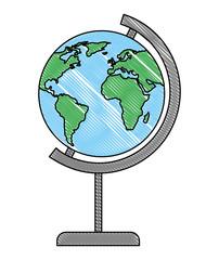 world planet earth education vector illustration design