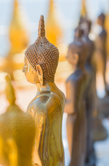 Statue of Buddha. The respect of the Buddhist.