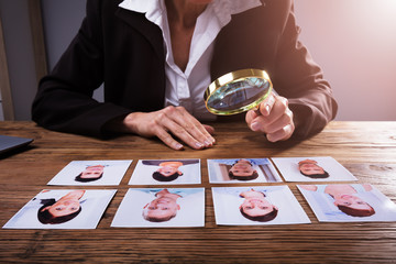 Businessperson Looking At Candidate's Photograph