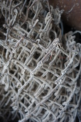 Metal grid.