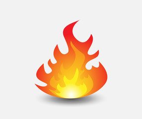 Fire. Icon illustration for design.