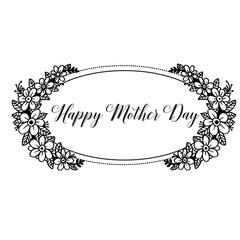 Happy mother day calligraphy background