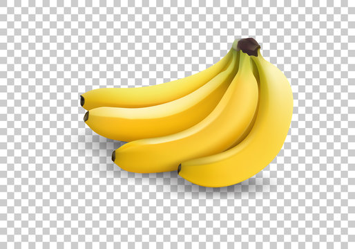 realistic illustration bananas, 3d vector icons. Banana isolated on white background, banana icon
